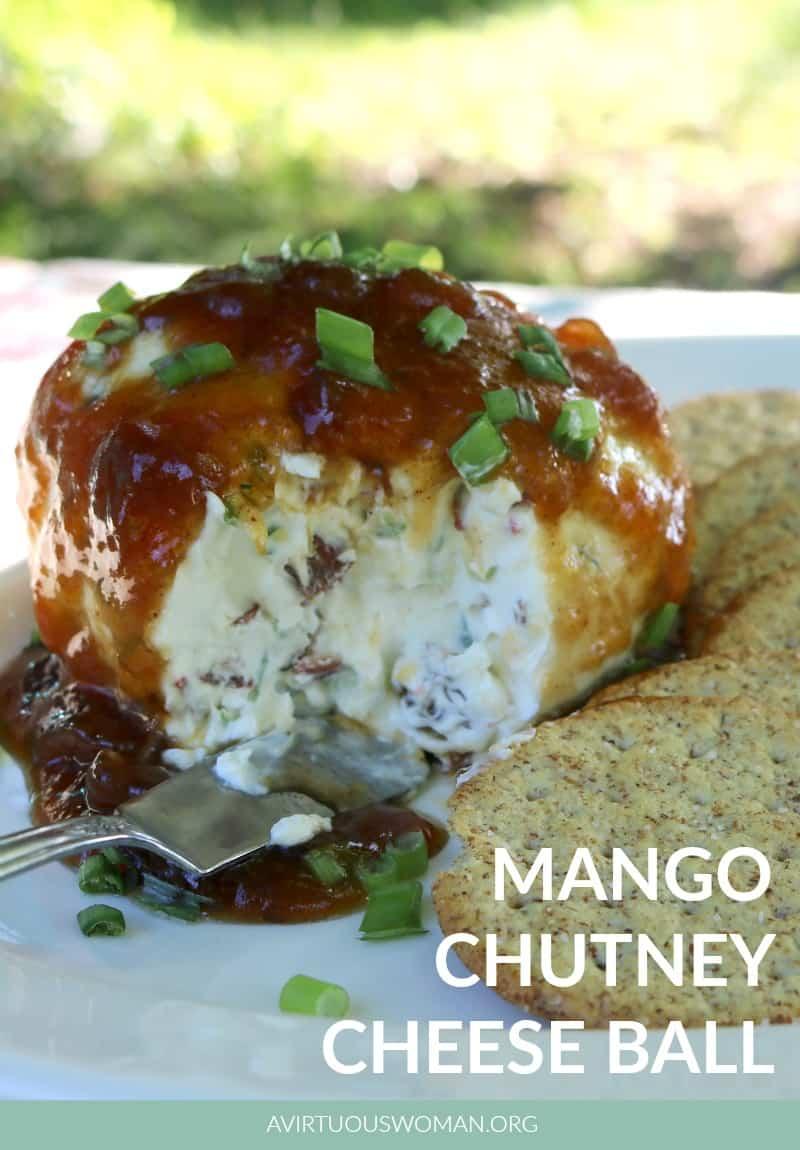 Mango Chutney Cheese Ball @ AVirtuousWoman.org