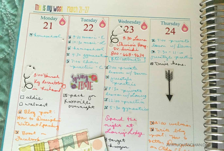 Sunday Planning @ AVirtuousWoman.org