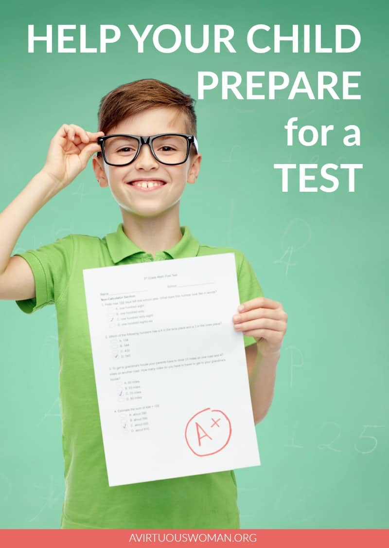 Help Your Child Prepare for a Test @ AVirtuousWoman.org