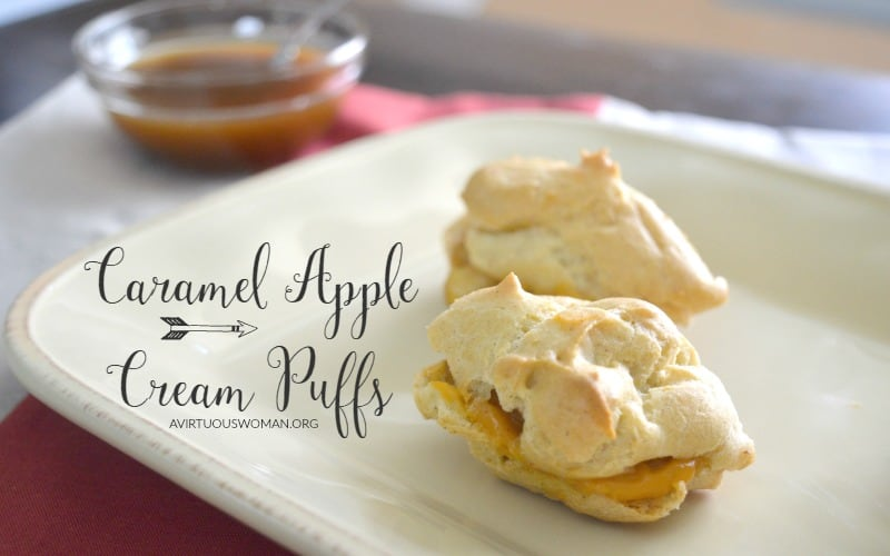 Caramel Apple Cream Puffs @ AVirtuousWoman.org
