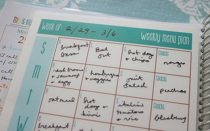 Laminated Dashboard: Homemaking Planner Insert @ AVirtuousWoman.org