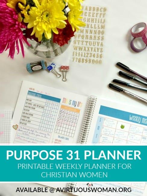 Printable Purpose 31 Planner @ AVirtuousWoman.org