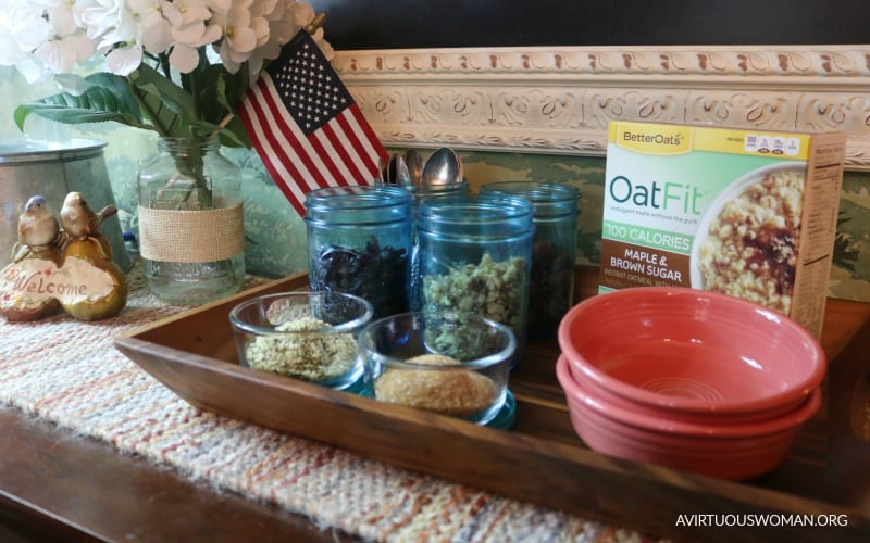 A Simple Breakfast Oatmeal Station @ AVirtuousWoman.org