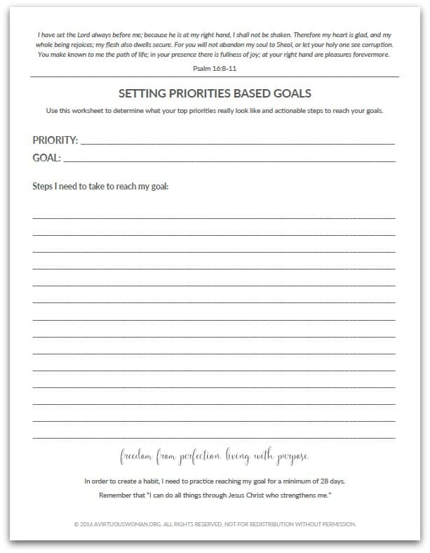 planning 101 setting priorities based goals. Black Bedroom Furniture Sets. Home Design Ideas