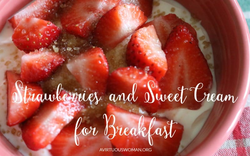 Strawberries and Sweet Cream for Breakfast