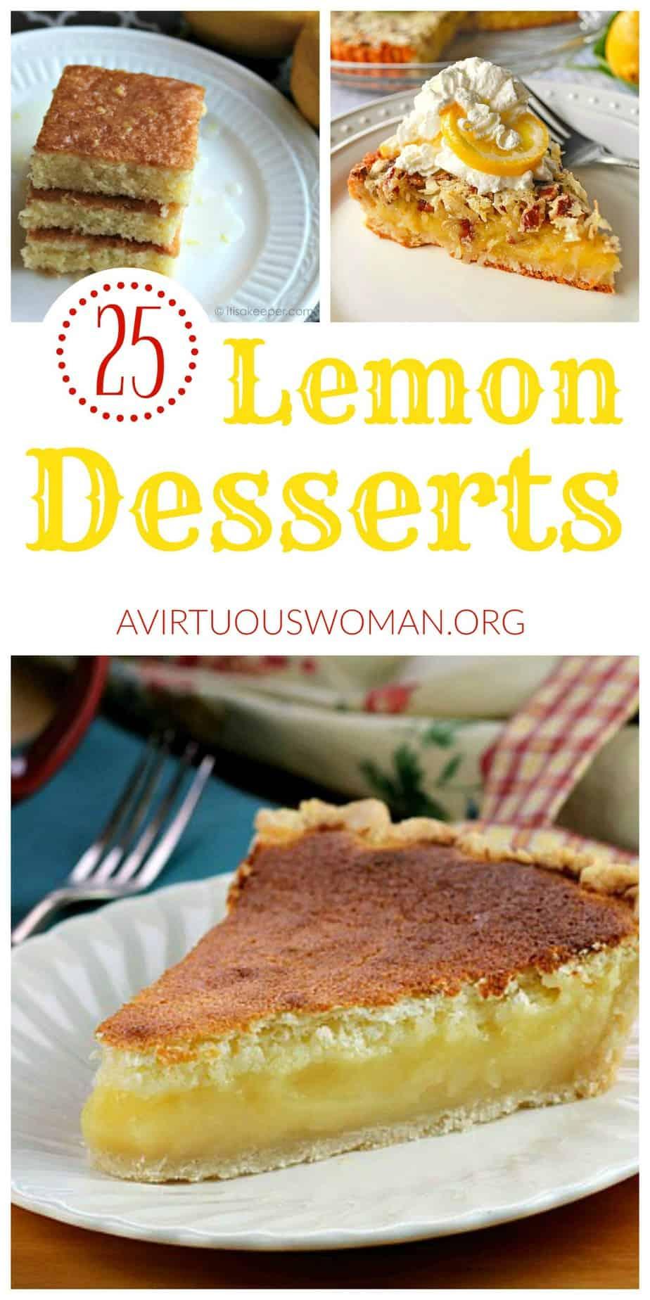 25 Delicious Lemon Desserts | A Virtuous Woman