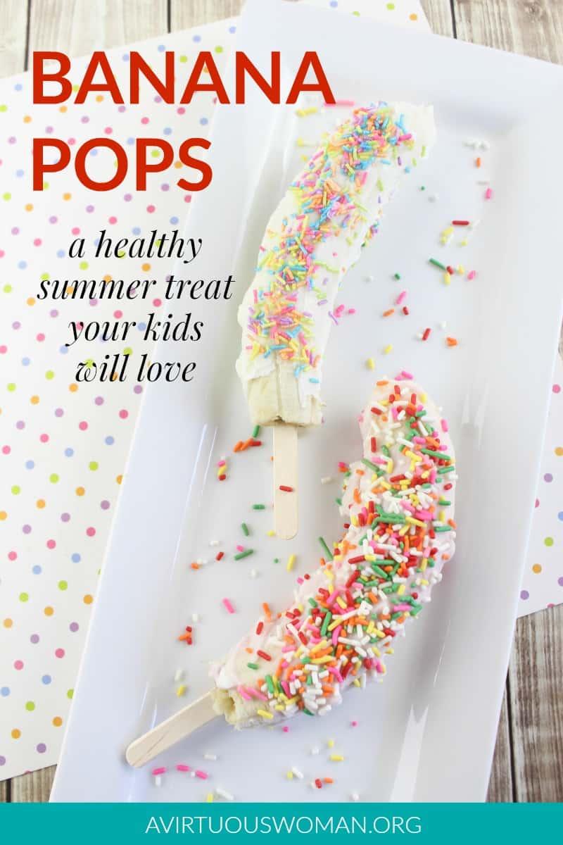 Banana Pops | Yogurt Covered Banana Pops @ AVirtuousWoman.org