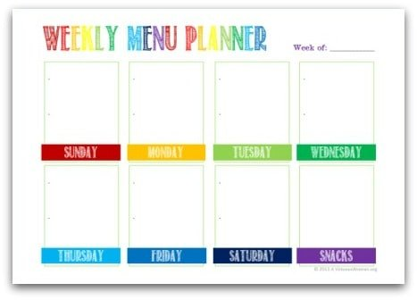 Make Meal Planning More Enjoyable | Free Printable Weekly Menu Planner @ AVirtuousWoman.org