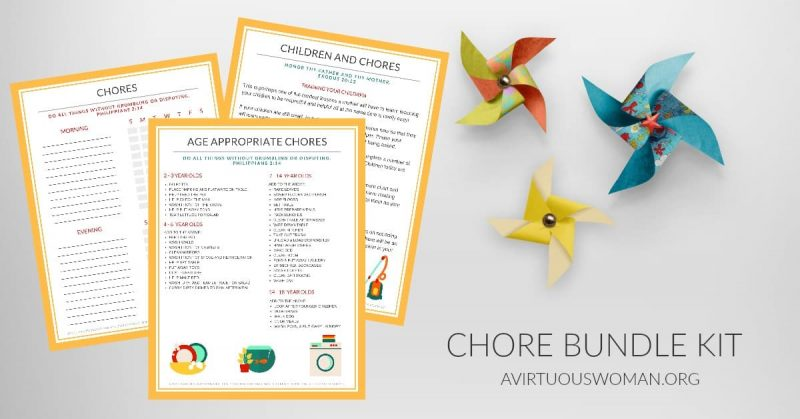 Get Your Free Chore Chart Bundle Kit for a Very Limited Time on AVirtuousWoman.org