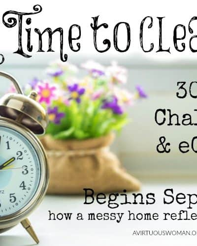 A Time to Clean 30 day Challenge & eCourse @ AVirtuousWoman.org
