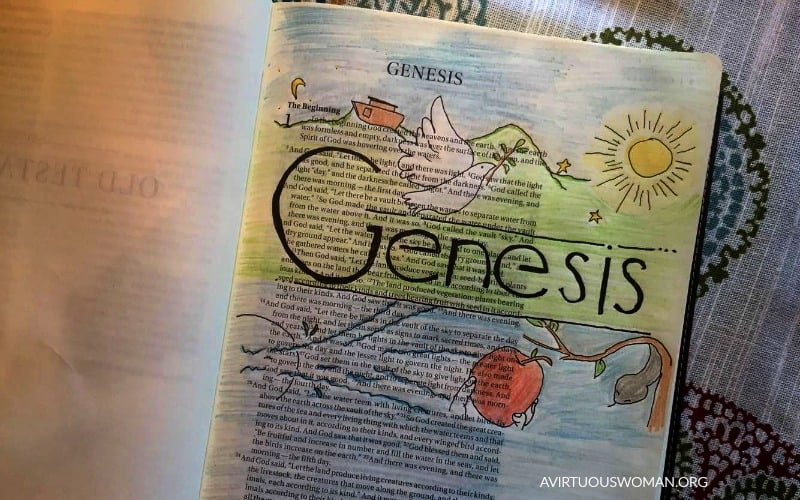 Bible Journaling | Coloring in My Bible @ AVirtuousWoman.org