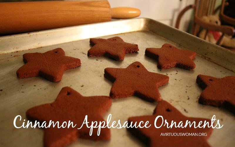 Cinnamon Applesauce Ornaments @ AVirtuousWoman.org