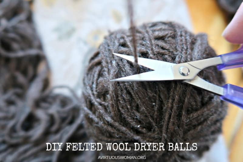 DIY Felted Wool Dryer Balls @ AVirtuousWoman.org