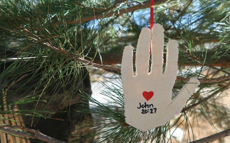 By His Hands We are Healed Christmas Ornament @ AVirtuousWoman.org