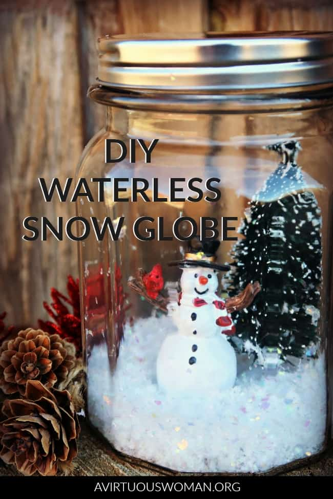 DIY Waterless Snow Globe @ AVirtuousWoman.org