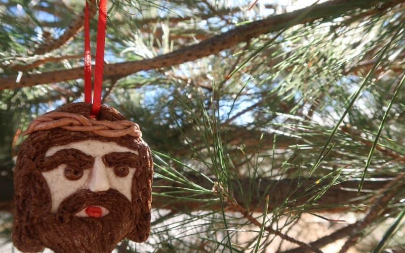 Salt Dough Man of Sorrows Christmas Ornament