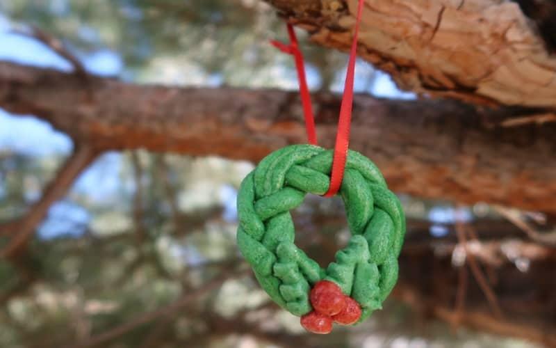 Holly Wreath Salt Dough Ornament