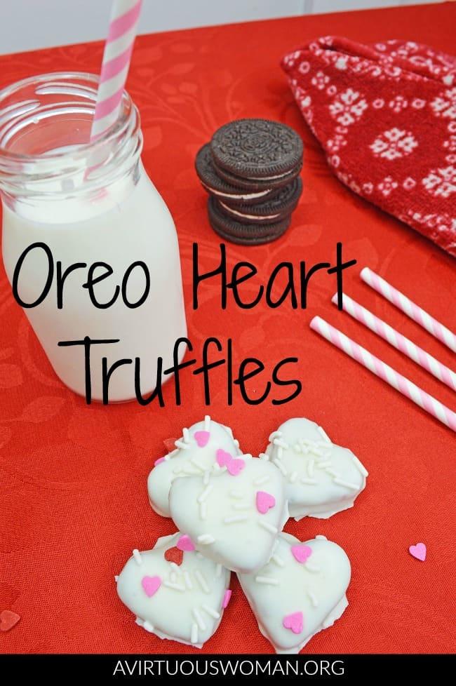 Oreo Heart Truffles @ AVirtuousWoman.org
