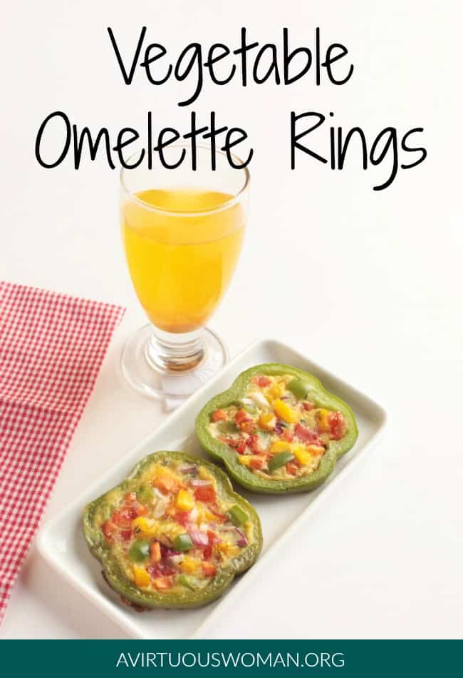 Vegetable Omelette Rings @ AVirtuousWoman.org