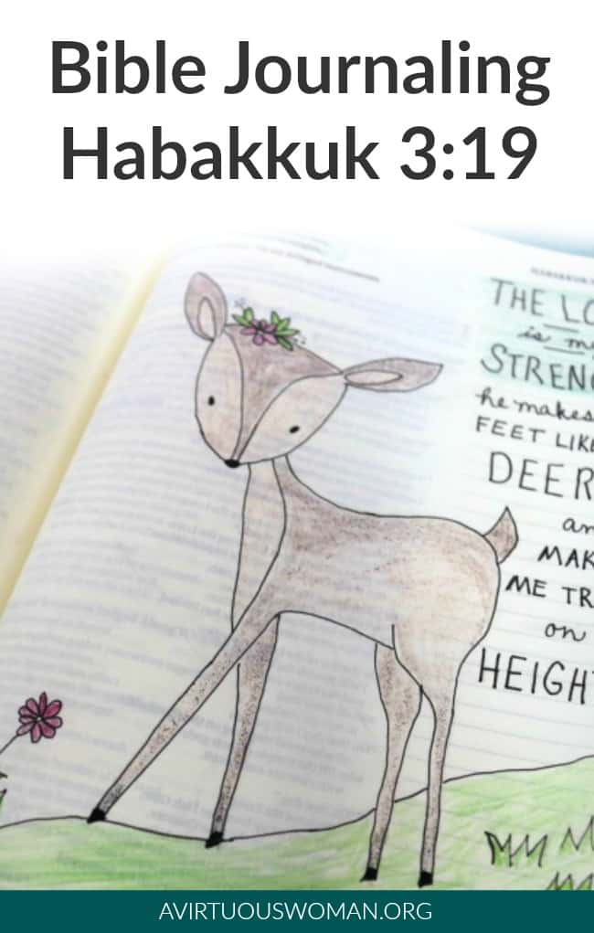Bible Study and Journaling Habakkuk 3:19 @ AVirtuousWoman.org