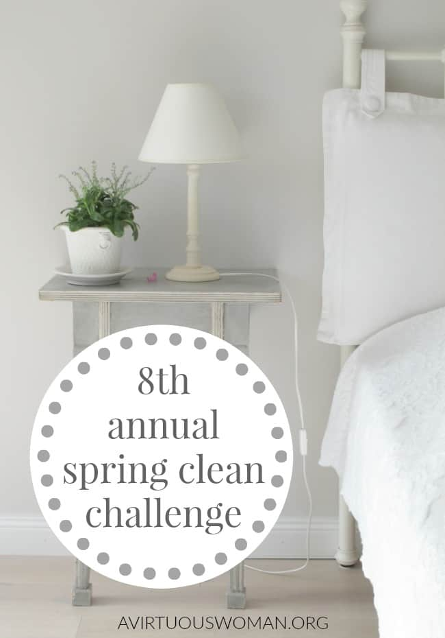Annual Spring Clean Challenge @ AVirtuousWoman.org