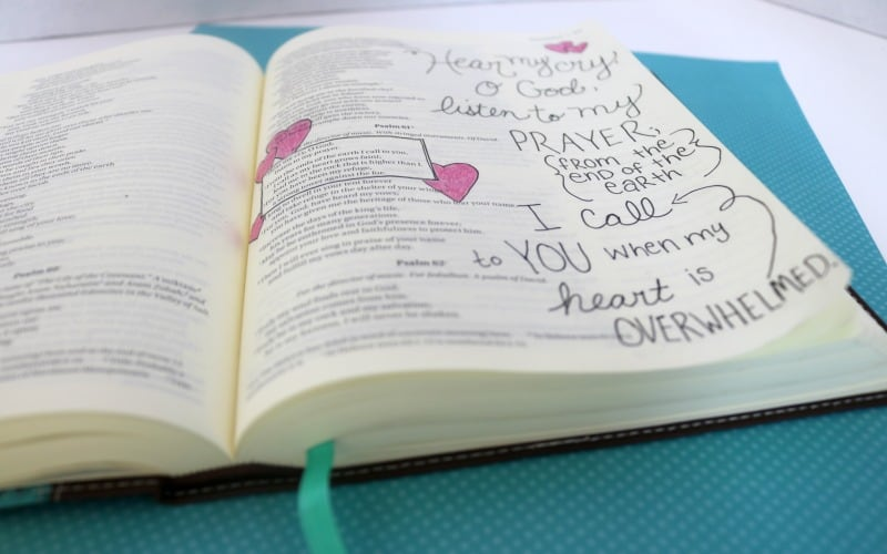 Here My Cry O Lord Bible Journaling @ AVirtuousWoman.org