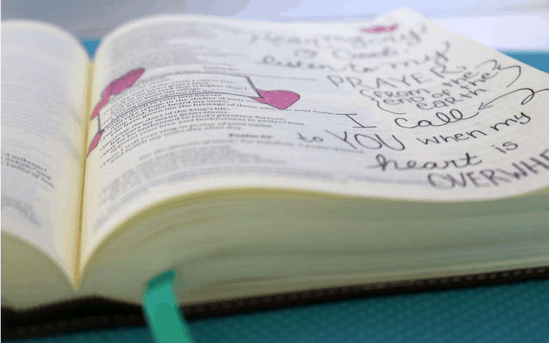 When You feel Overwhelmed + Bible Journaling
