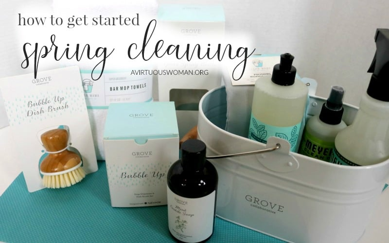 How to Get Started Spring Cleaning @ AVirtuousWoman.org