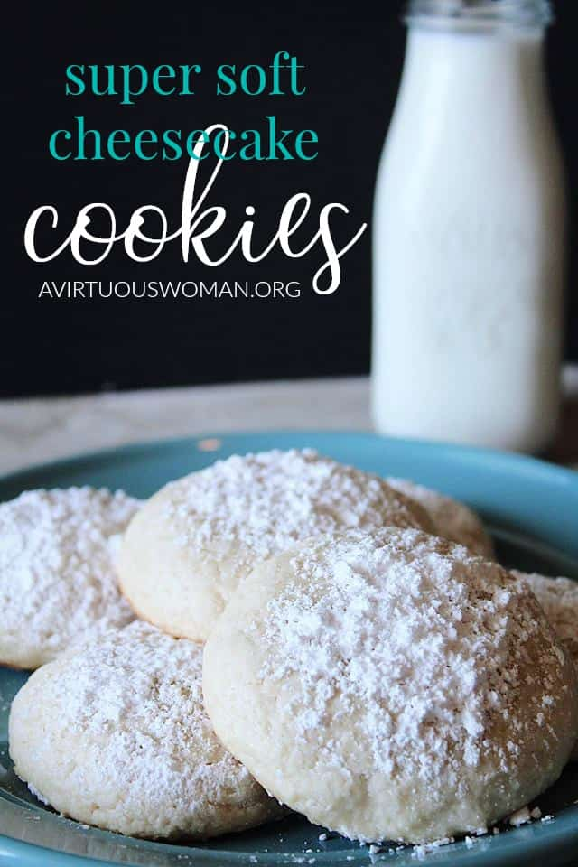Super Soft Cheesecake Cookies @ AVirtuousWoman.org