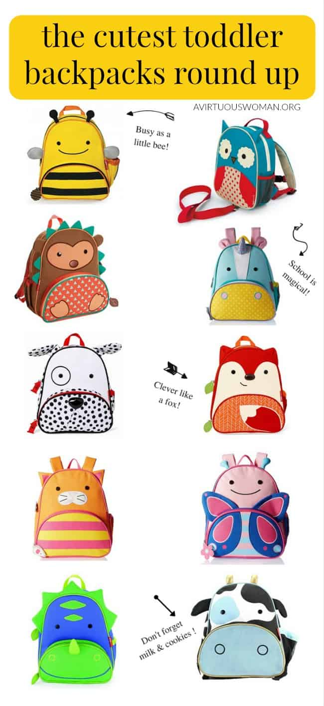 The Cutest Toddler Backpacks from Skip Hop Zoo Round Up @ AVirtuousWoman.org