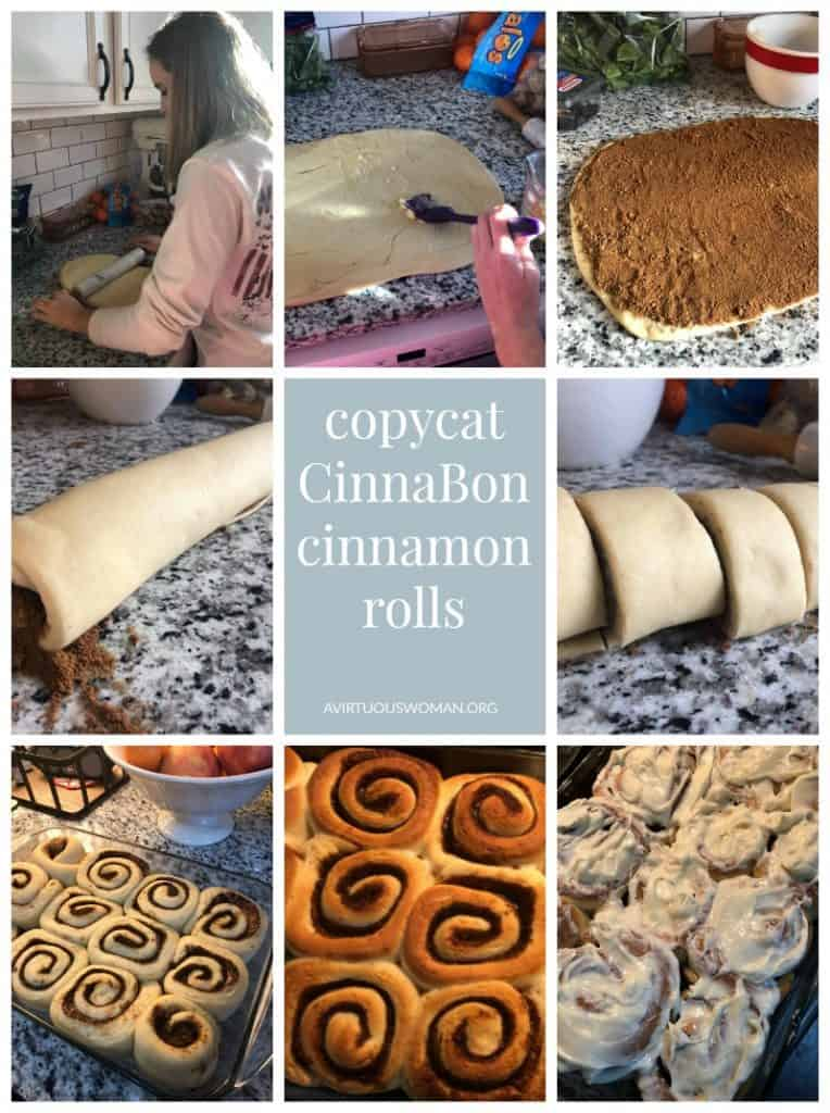 Copycat Cinnabon Cinnamon Roll Recipe @ AVirtuousWoman.org