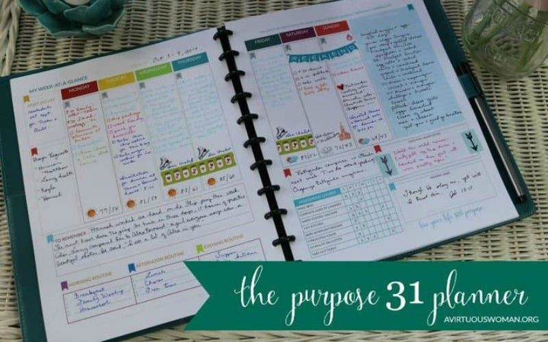 The Purpose 31 Planner @ AVirtuousWoman.org