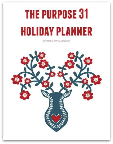 Holiday Planner @ AVirtuousWoman.org