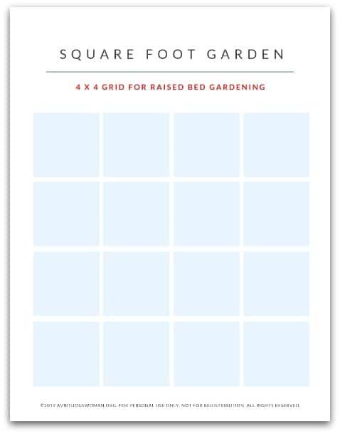 Square Foot Garden Planner @ AVirtuousWoman.org