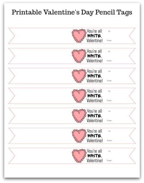 Valentine Pencil Topper @ AVirtuousWoman.org