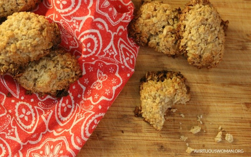 Ginger Coconut Cookies @ AVirtuousWoman.org