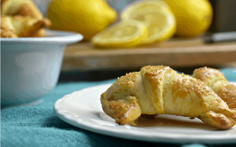 These simple and delicious Lemon Crescent Rolls are perfect for breakfast or dessert.