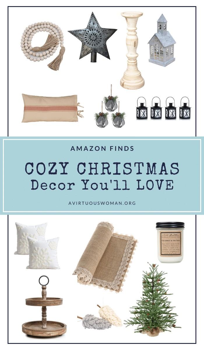 Cozy Christmas Decor from Amazon @ AVirtuousWoman.org
