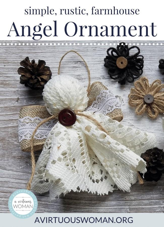 Simple Farmhouse Angel Ornamenet @ AVirtuousWoman.org