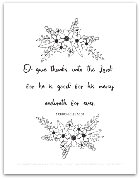 Thanksgiving Bible Verse Art Print @ AVirtuousWoman.org
