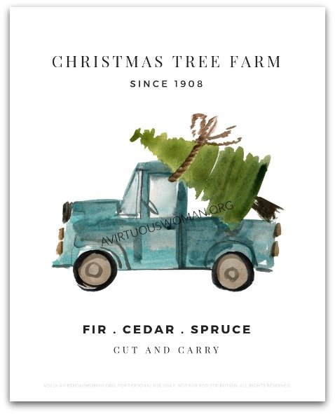 Christmas Tree Farm Art Print @ AVirtuousWoman.org