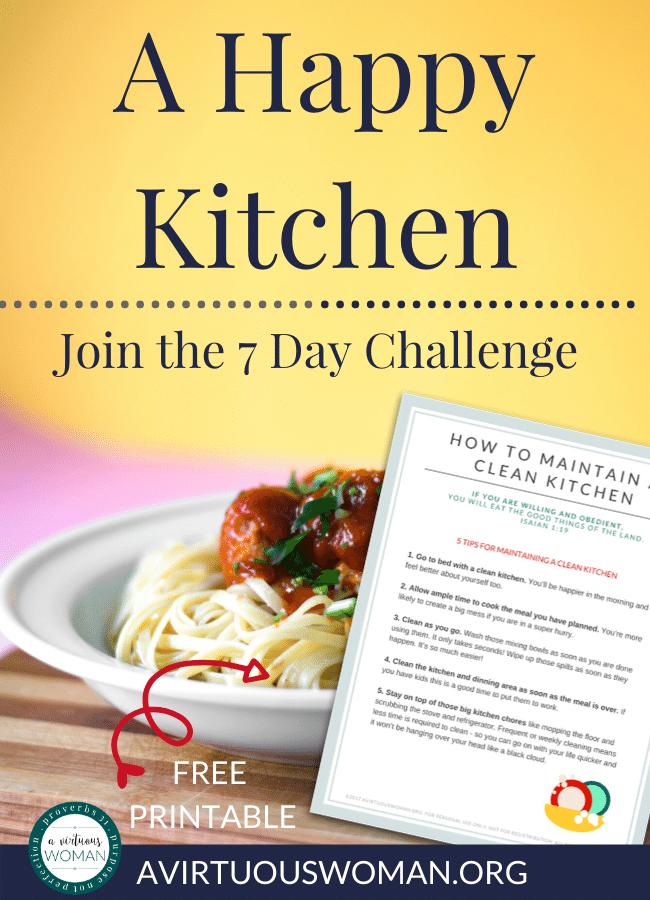 A Happy Kitchen Challenge @ AVirtuousWoman.org