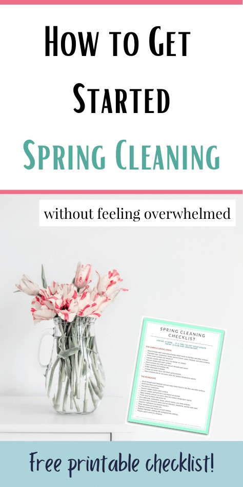 How to Get Started Spring Cleaning without Feeling Overwhelmed @ AVirtuousWoman.org