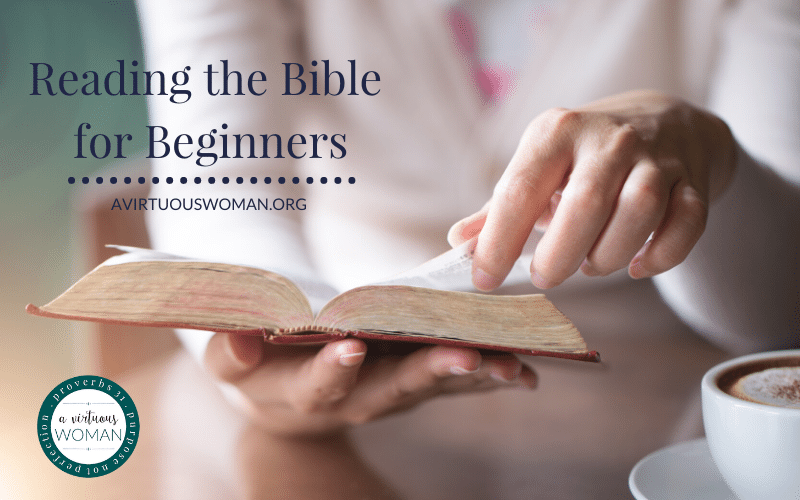 The Ultimate Guide to Reading the Bible for Beginners @ AVirtuousWoman.org