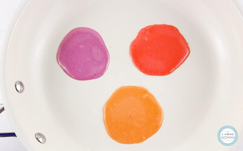Rainbow Pancakes Recipe @ AVirtuouswoman.org