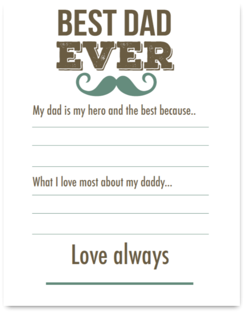 Best Dad Ever Father's Day Cards @ AVirtuousWoman.org