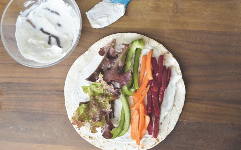 Rainbow Veggie Wraps | Picnic Recipes