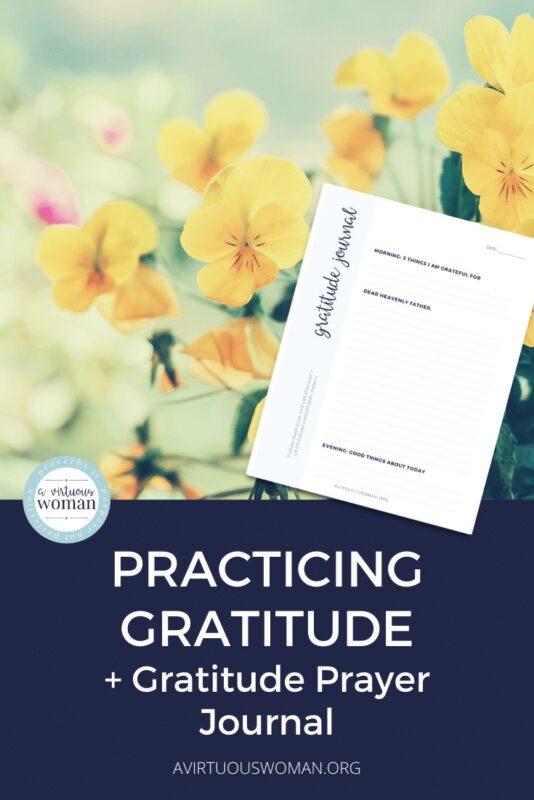 Gratitude Prayer Journal | Christian Gratitude Journal @ AVirtuousWoman.org