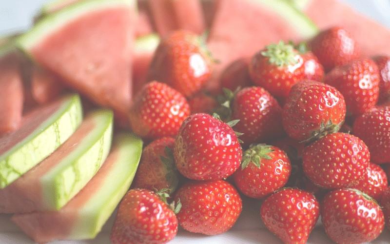 Strawberry, Watermelon and Basil Salad