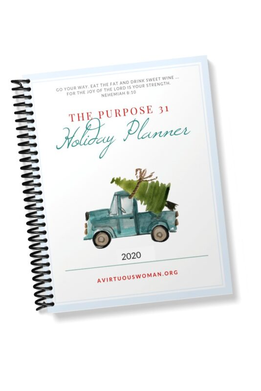 The Purpose 31 Holiday Planner 2020 @ AVirtuousWoman.org